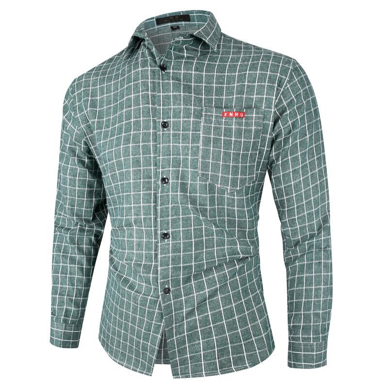 Easy Matching Multi Color Plaid 70% Cotton Men's Casual Check Shirt Long Sleeve Shirts For Men