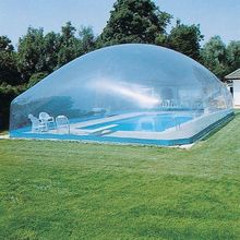 Outdoor warm keeping transparent pool inflatable dome cover, inflatable clear dome tent cover for above ground pool