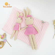 Super Cute Amigurumi Crochet Knitted Doll Stuffed Bunny Toy For Baby
