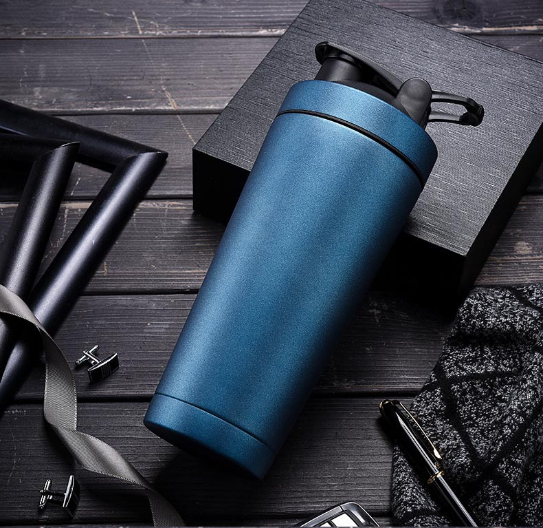18oz /24oz2019 New design Sport Insulated Protein Shaker Water cup Double Walled Stainless Steel Shaker <strong>Bottle</strong>