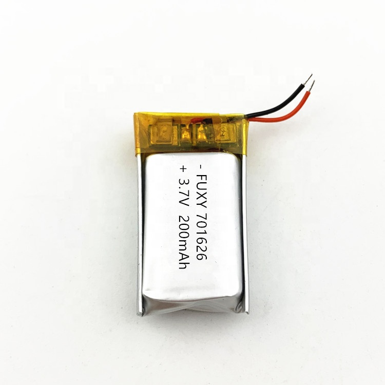 Factory Price Rechargeable li-ion  Polymer Lithium Battery 3.7V 701626 200mAh 601525 180mAh for Bluetooth Headset