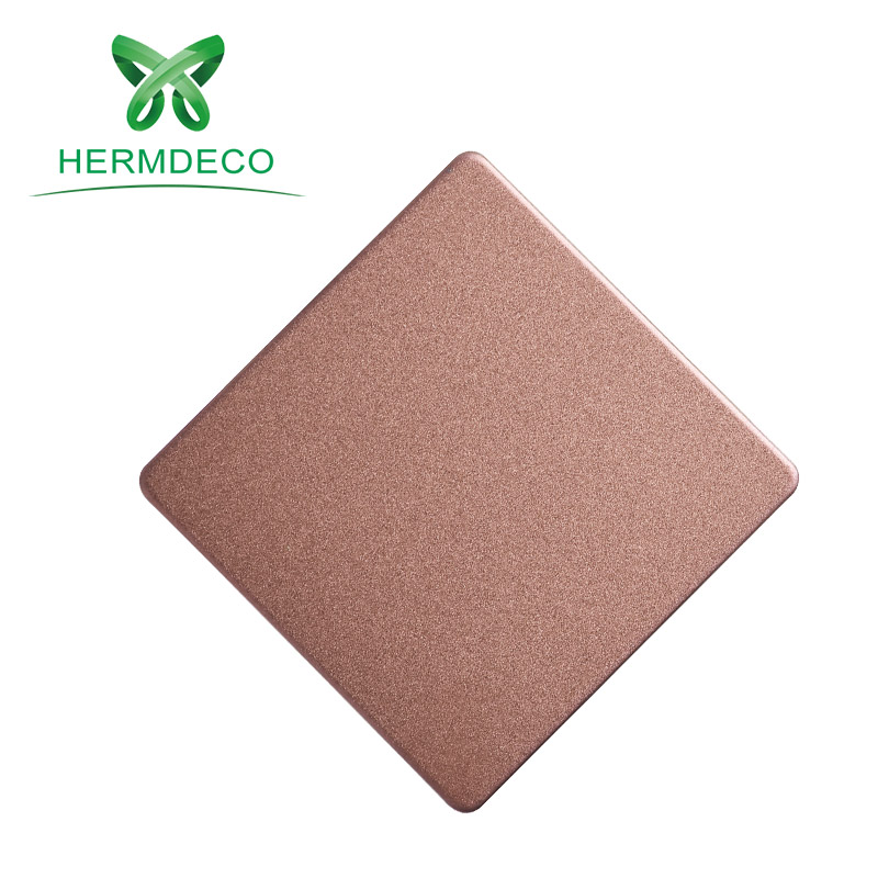 Grade 201 4 <strong>x</strong> 10 metal oem rose gold titanium blasting decorative sand blasted stainless steel sheet and plates for sign
