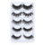 Wholesale Mixed 5 Pairs Pack Vegan Long Thick Fiber Natural 3D False Eyelashes For Sale Manufacturer Private Label