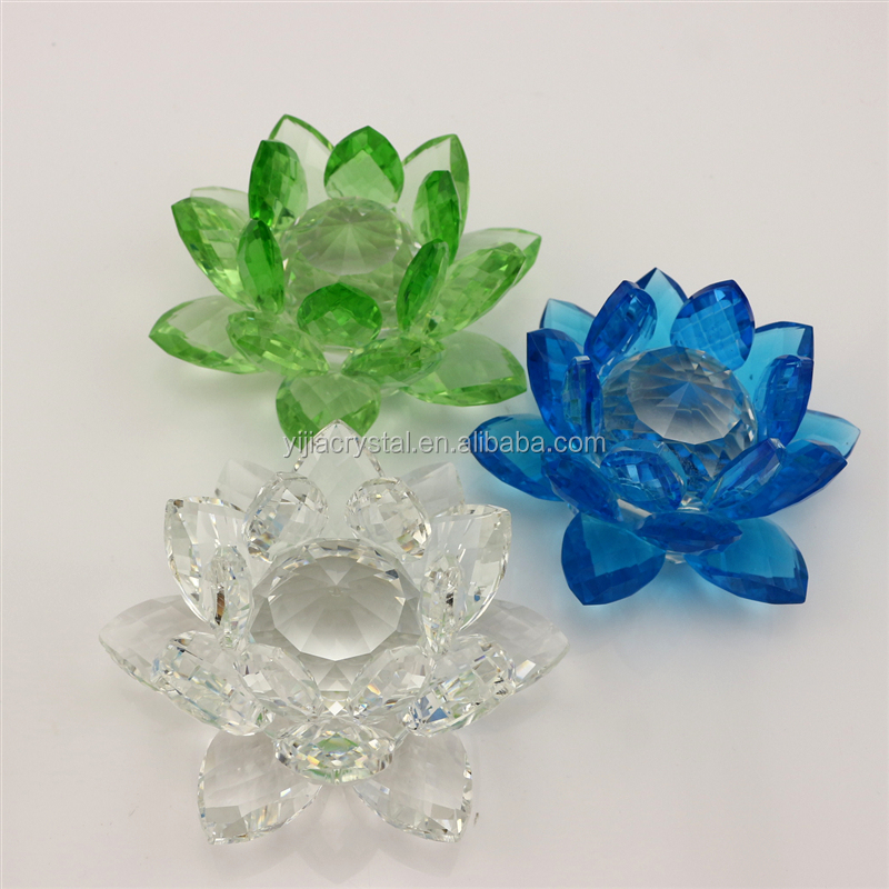 Clear glass crystal lotus new make