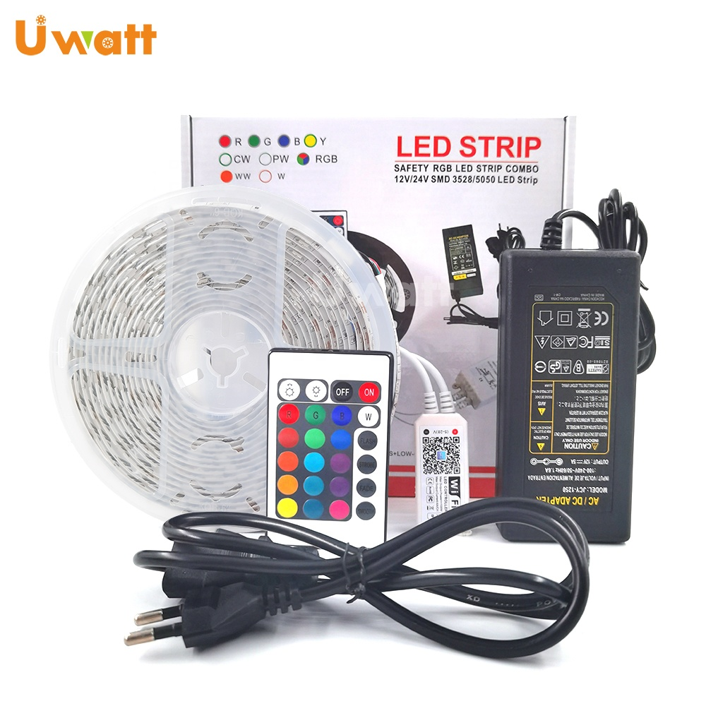 Tira Leds Wifi 5050 <strong>RGB</strong> IP20 IP65 5M 150leds Multicolor Controlled <strong>RGB</strong> Wifi LED Light Strip