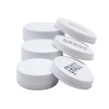 round aluminum lip balm screw top round steel tins 120ml 60ml