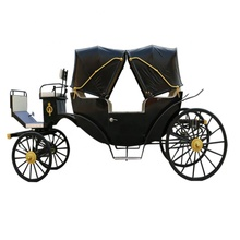Luxury four wheels sightseeing horse carriages horse drawn Carriage for Sale