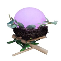 Creative Bird's Nest Colorful Night Lights USB Charging Living Room Bedside LED Table Light Environment Light