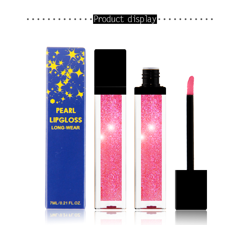 New Innovative pearl lip gloss private label moisturizing multicolored diamond liquid lipstick high pigment glitter lipgloss