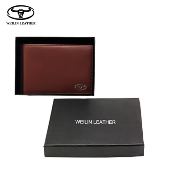 Wholesale Top Quality Luxury Genuine Leather Wallets Mens Purse Business commute Vintage Cowhide Custom Imprint Gift Wallet