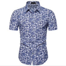 Hot Selling Summer <strong>Men's</strong> <strong>Shirts</strong> Short Sleeve Floral Printed Cotton <strong>Shirts</strong> For Men