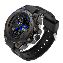 SANDA 739 Best Silicone Analog Digital Display Men Watch Hot Sale Trendy Sport Watches Customized OEM