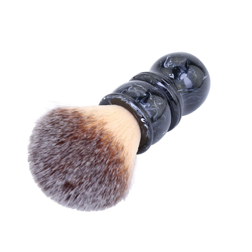 24MM Tuxedo Black and White Tip Marble Color Resin Handle Barber Wholesale Synthetic Shaving Brushes
