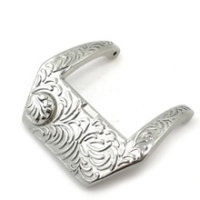 Embossed hollow pin buckle watch buckle 22mm high-grade polished brush clasp buckle