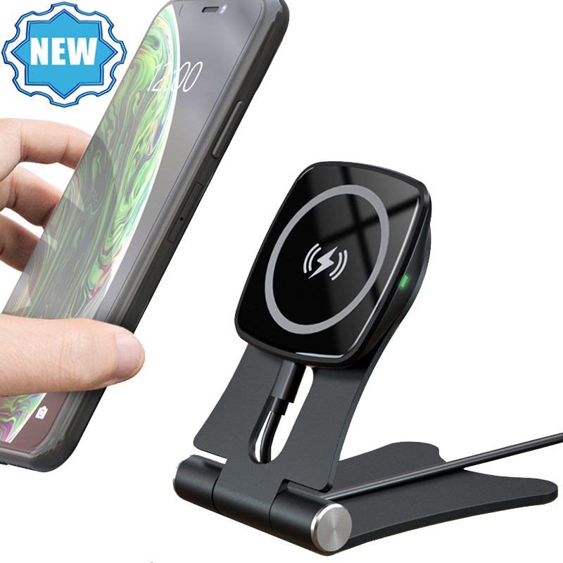 New <strong>10</strong> Fast Charging Desktop Cell Phone Holder Aluminum alloy Phone Holder Wireless Charger Stand