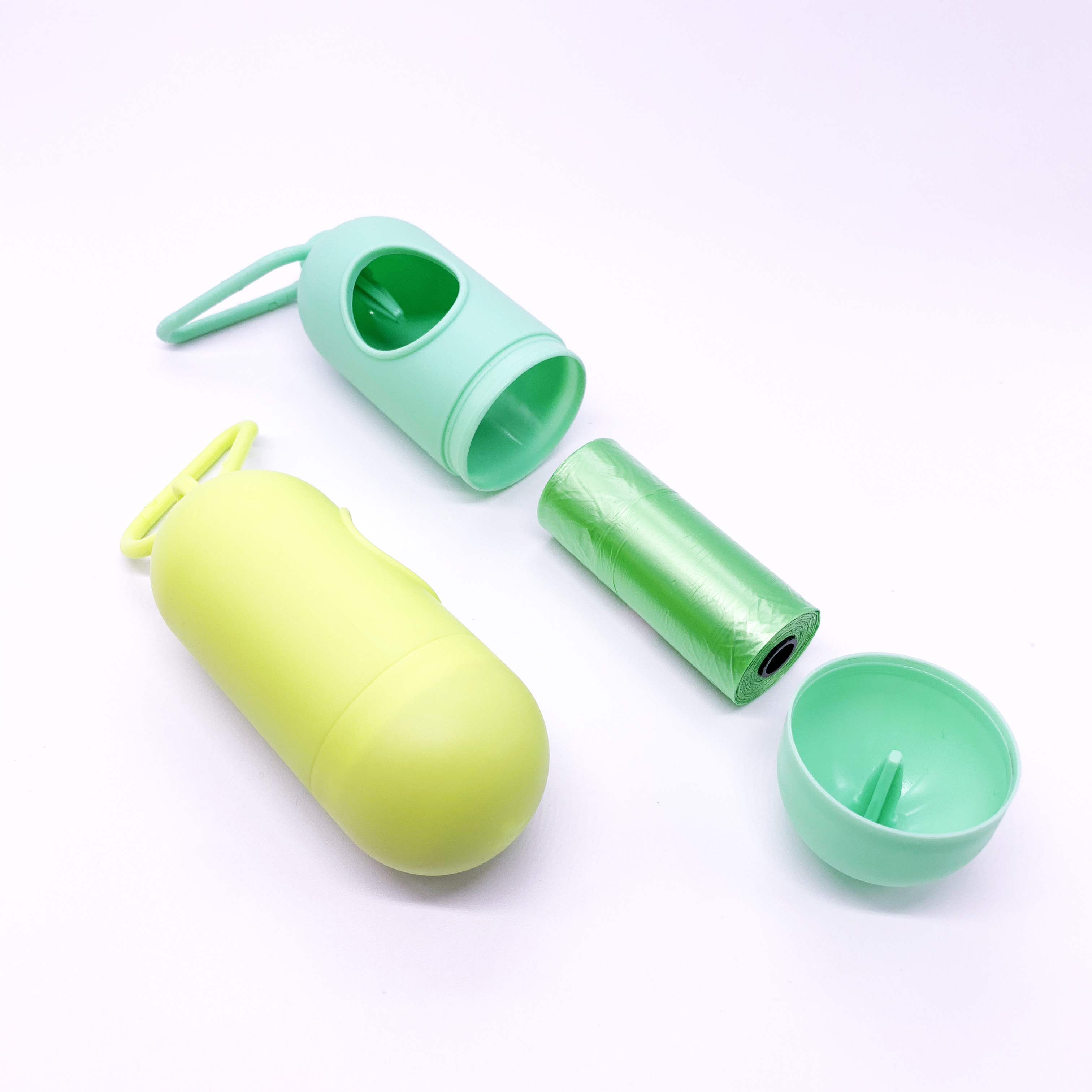 Whole sale and reudable outdoor plastic bag dispenser organizer silicone garbage bag holders
