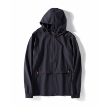 <strong>Men's</strong> 100% polyester plus size hooded loose trench coat casual short lightweight <strong>jacket</strong>