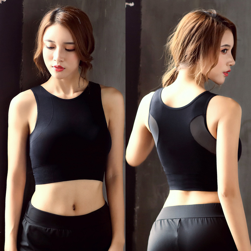 Quick dry breathable sport bra oem shockproof fitness yoga running underwear sports bra