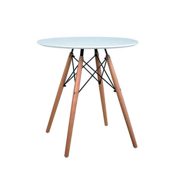 Customize Modern Small White Wooden Round MDF Top Dinning Furniture Dining Tables