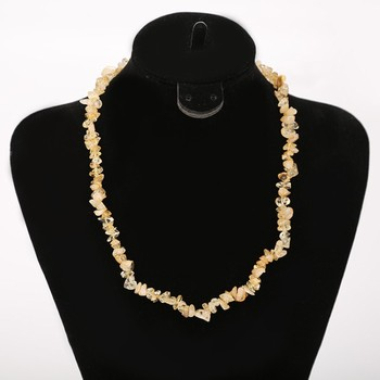 hot sell Natural citrine chips necklace for women yellow quartz Best Quality Natural Chips