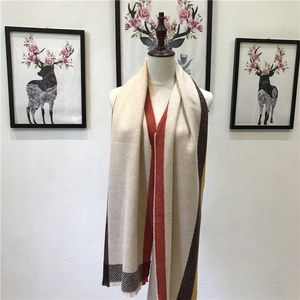 2019 new high quality fashion light fleece border warm woolen scarf shawl