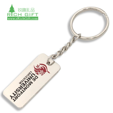 No Minimum Chrome Custom Made Pop Hearts Piece Shape Gold Metal Keychain sublimation metal keychain with Logo
