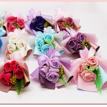 wholesale PE Soap flower three small bouquets
