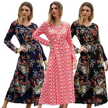 Free Shipping Floral Mexican Long Floral Print Tunic Dress BoHo Spring Dress