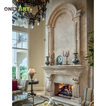 modern style natural stone double mantel
