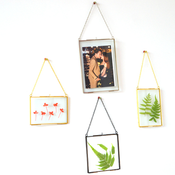 gift for her christmas gift wedding pressed flowers hanging sublimation glass photo frame crystal glass
