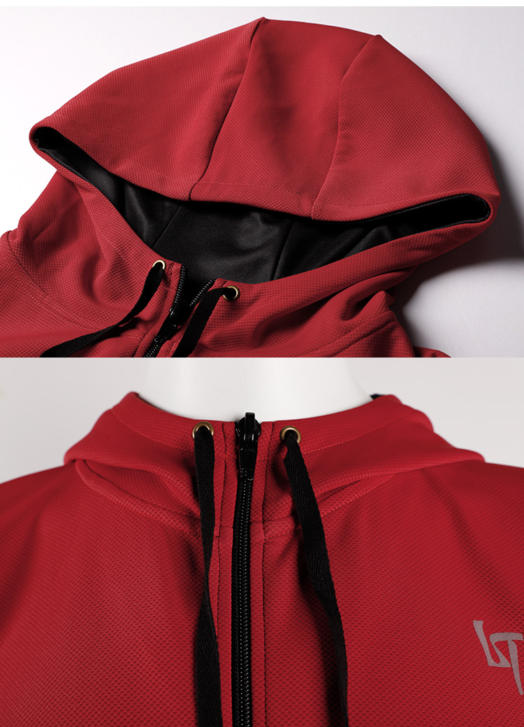 OEM 100% polyester quick dry men full zip sweatshirt/hoody men custom