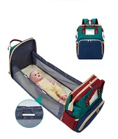 Baby Bag Portable Bed Travel Nappy Mummy Backpack Changing Sleeping Custom Diaper Bags