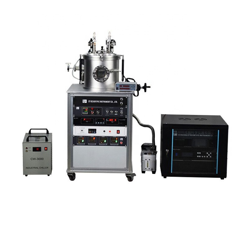 Lab 2-head magnetron sputtering coater with film thickness system for Al Ti light metallic film