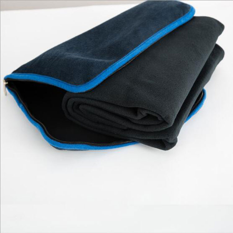 Car Sleep Packable Travel Blanket in Pouch Zipper Bag Blanket Foldable Travel Pillow Blanket  2 In 1 for Airline