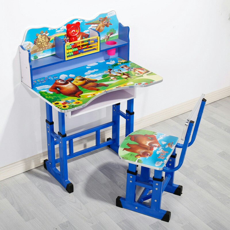 Cheap colorful children study table and chair