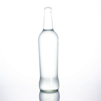 Stocked 275ml 330ml 600ml clear transparent empty sparking soda water carbonate beverage cocktail breezer beer glass bottle