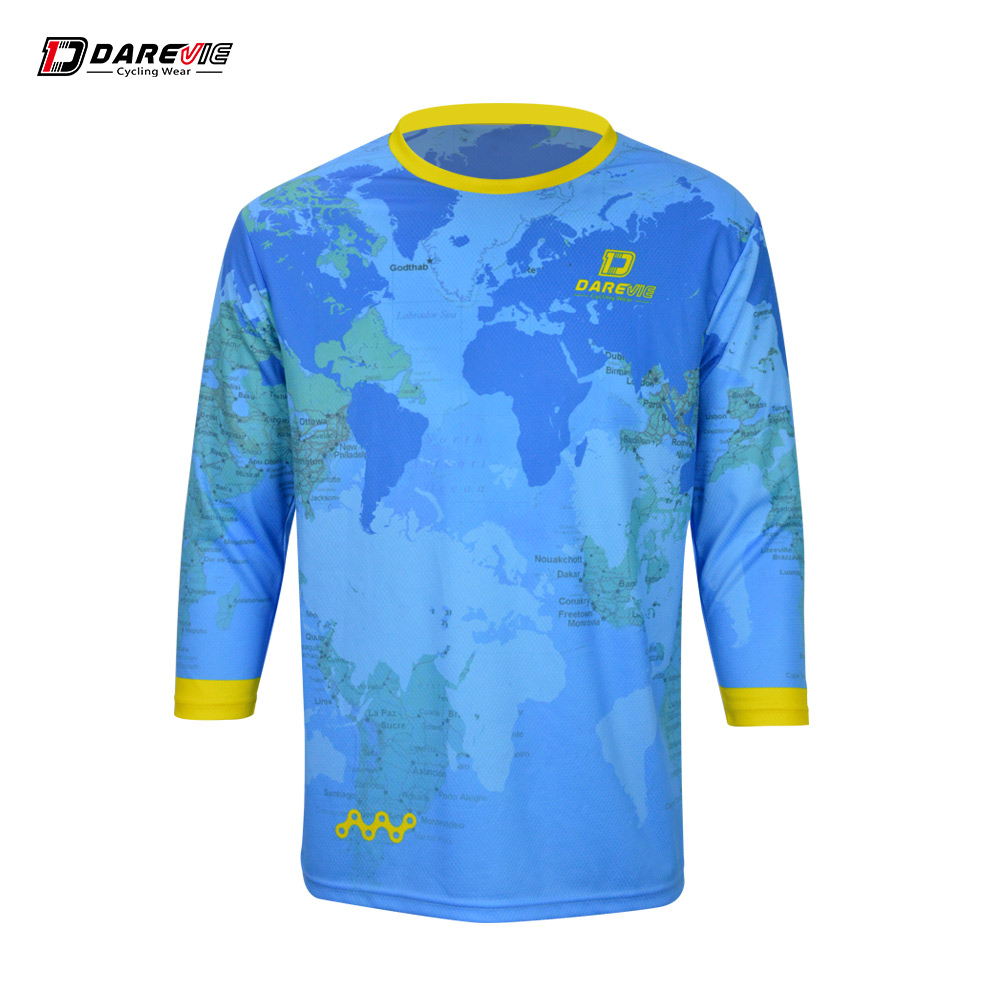 Darevie custom  Biking T-Shirt cycling wear Downhill Jersey y Soft lightweight fabrics 3/4 sleeve mtb jersey