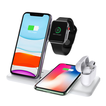multi function newest for iphone x fast apple 3-in-1 qi wireless charger stand