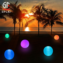 GFLAI IR <strong>24</strong> Key Remote Control Floating Inflatable LED Beach Ball For Swimming Pool