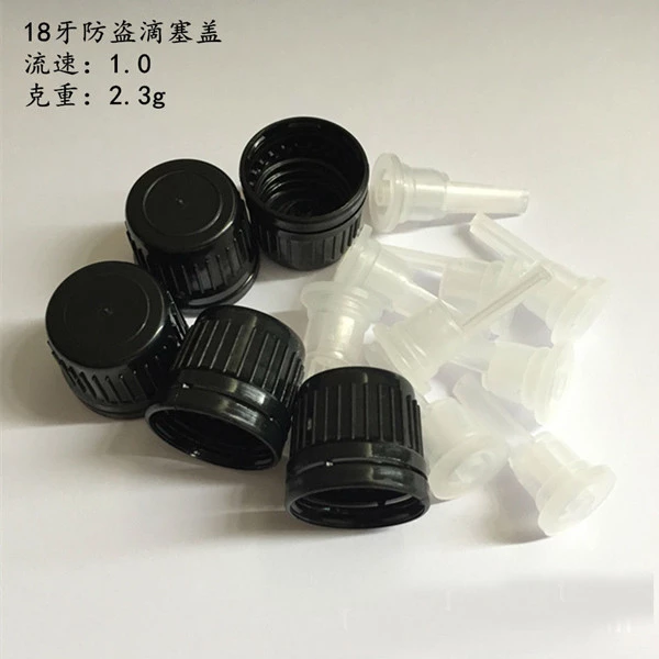 18/410 plastic child resistant cap, childproof cap with dropper, 18mm neck CRC screw cap
