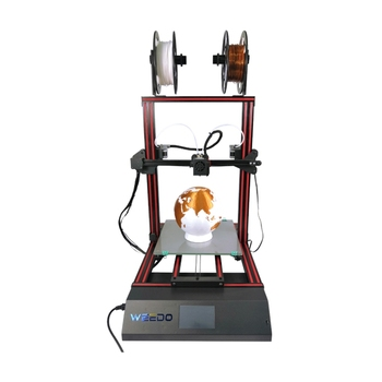 glass platform heater double extruder head system multicolor 3d printer