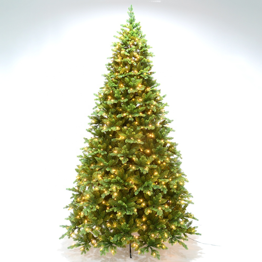 Wholesale New 11.8 ft Pre-Lit Full Fir PVC Artificial Christmas Tree <strong>w</strong> <strong>1000</strong> LEDs