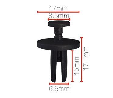 14019206 retainer push pin plastic rivet auto clip B105