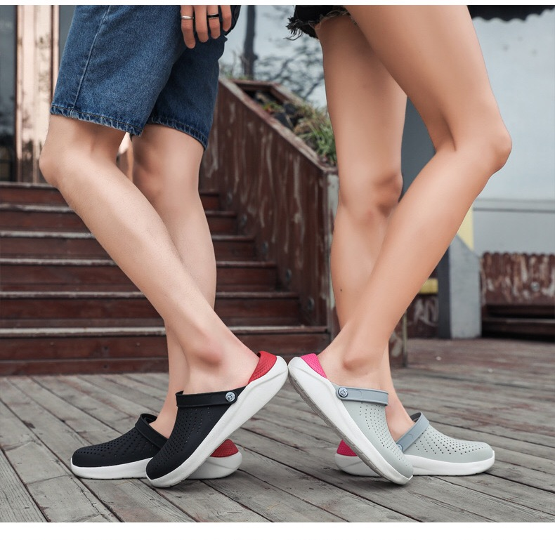 New 2020 Women Clog Male Mens Sandals Sandalias Summer  Nude Massage  Male Slipper