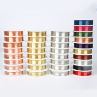 Free Shipping 0.2/0.25/0.3/0.4/0.5/0.6/0.8/1 mm Gold/Red Copper/Silver Copper Wire for DIY Jewelry Craft Making Accessories