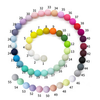Food Grade Silicone Teething Beads 15 mm For Jewelry Bulk