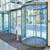Aluminum Sensor Security Automatic Shopping Curve Glass Sliding Door
