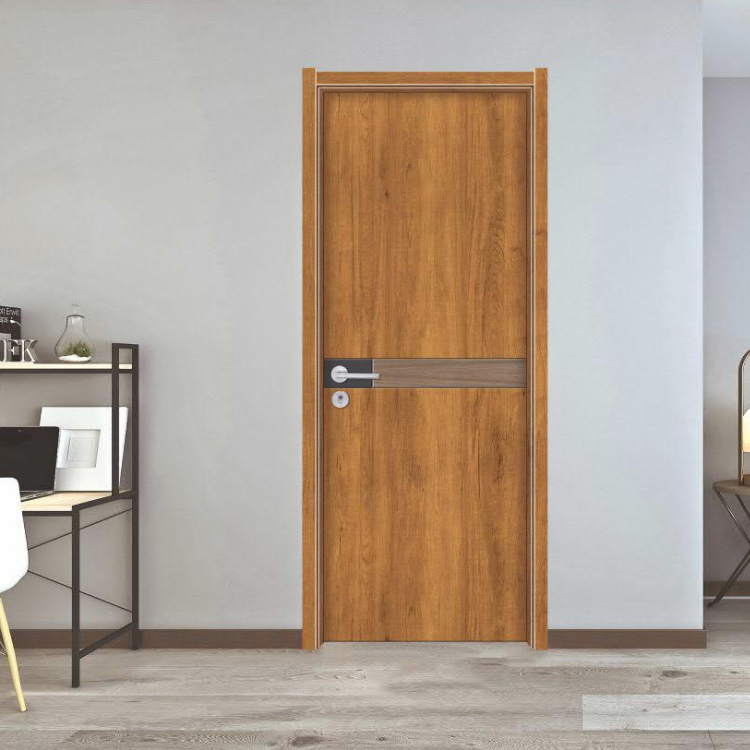 China Supplier Modern Design HDF Wooden Interior Bedroom Doors Price