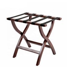 Hotel Wooden Folding Suitcase Stand Luggage Rack