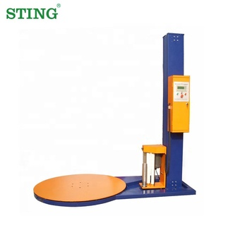 Full Automatic Vertical Turntable Plastic Stretch Film Shrink Pallet Wrapper Wrapping Machine Price